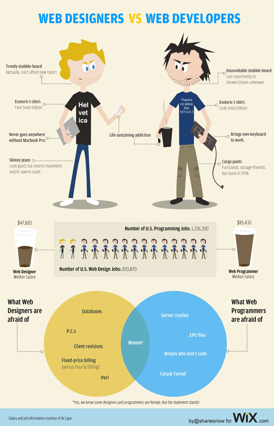 webdesigner vs webdevelopers