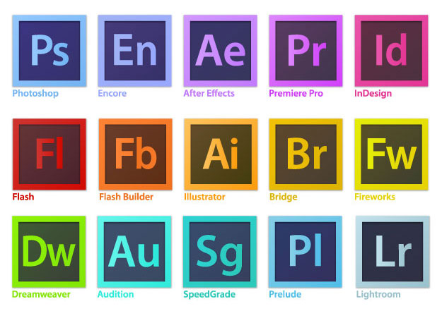 Adobe CS6 Icons