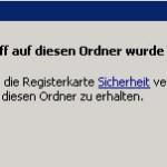SBS2011 Folderredirections Fehler