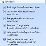 SBS2011 Speichertasks