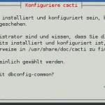 Cacti - Installation - dbconfig