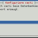 Cacti - Installation - PW DB User