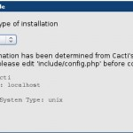 Cacti Installation - Browser Neu