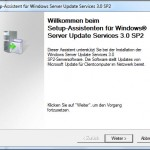 WSUS 3.0 SP2 Installation