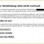 Browser eigenes Zertifikat akzeptieren