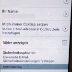 Samsung Android Kontoeinstellung