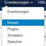 Joomla 3 - Erweiterungen Module