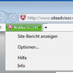 McAfee SiteAdvisor Browser Plugin