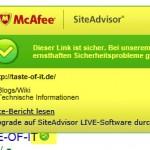 McAfee SiteAdvisor Search Info