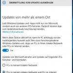Windows10 Übermittlung von Updates