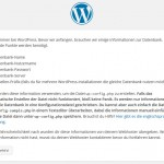 Wordpress Installation Start