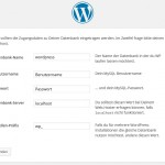 Wordpress Installation Daten