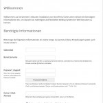 Wordpress Installation Seite