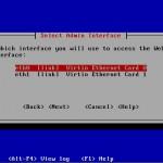 Sophos UTM Installation Admin Interface