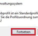 Windows10 Farbprofil Einstellungen