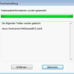 Windows Druckertreiber entfernen