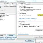 Windows Indizierungsoptionen