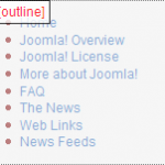 Joomla Chromes Outline