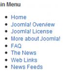 Joomla Chromes Table