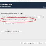 ownCloud Desktop Client Storage