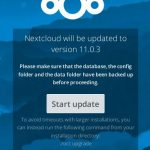 Nextcloud 11 Update 11.0.3