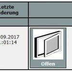 Homematic CCU2 Fensterdrehgriff Status