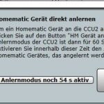 Homematic CCU2 Anlernen