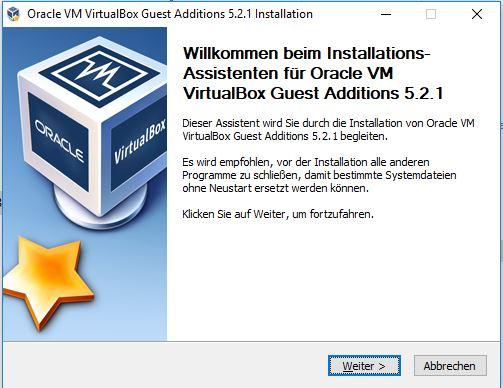 VirtualBox Gast Additions Step1