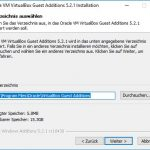 VirtualBox Gast Additions Step2