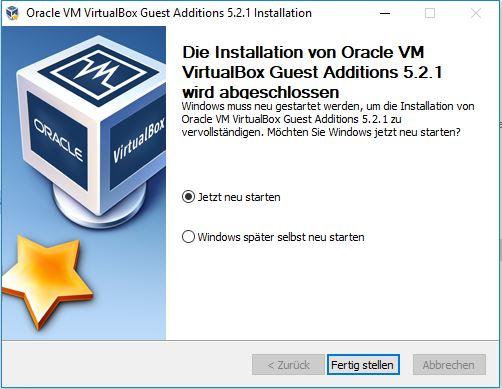 VirtualBox Gast Additions Step5