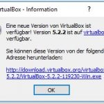 VirtualBox 5.2.2 Update