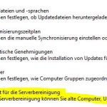 WSUS Option Assitent Bereinigung