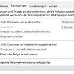 Windows Aufageb Bedingung Netzwerk