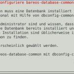 Bareos Datenbank erstellen