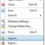 KeePass Import