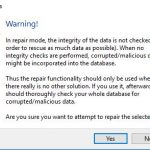 KeePass Import Repair Warning