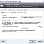 KeePass Setting Security