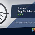 Joomla Bugfix Release 3.8.7