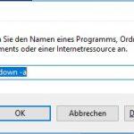 Windows 10 Ausführen shutdown -a