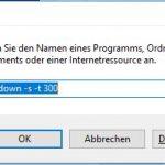 Windows 10 Ausführen shutdown -s