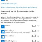 Windows 10 Kamera Datenschutz