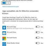 Windows 10 Mikrofon Datenschutz