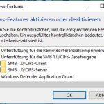 Windows Features SMB CIFS 1.0