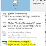 MS Outlook 2016 Archivordner erstellen