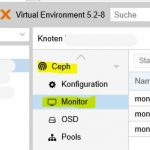 Proxmox VE 5 Ceph Monitor und Manager