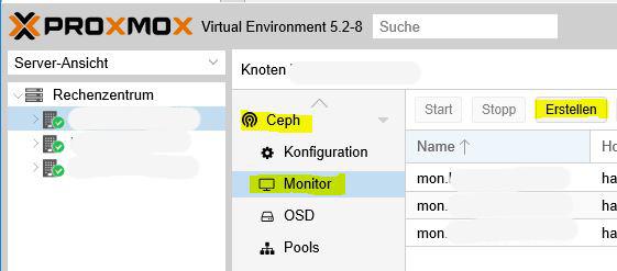 Proxmox VE 5 2 Ceph Storage erstellen – TASTE-OF-IT