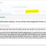 Proxmox VE 5.2 Cluster Beitrittsinfos