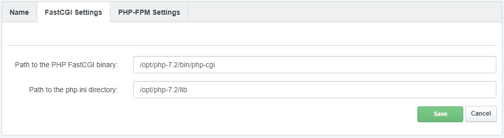 ISPConfig Add PHP 7.2 FastCGI Paths