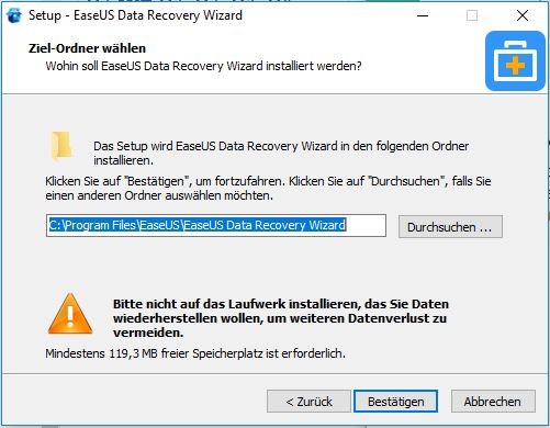 Easeus Data Recovery Install