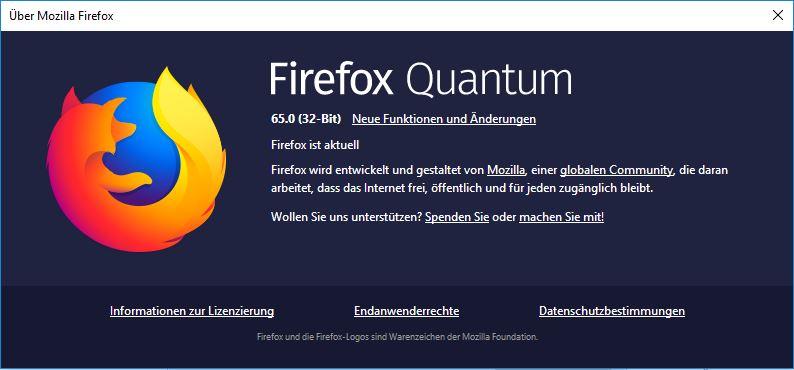 Mozilla Firefox Quantum 65.0
